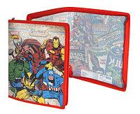 Папка для рисунков и нот А4, Marvel Comics, пластик, на молнии, полноцветный рисунок Silwerhof.