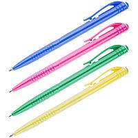 Ручка шариковая автоматическая OfficeSpace синяя, 0,7мм, цветной корпус