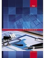 Бизнес-блокнот Hatber, 120 листов, А4, клетка, 5 цветн. блоков, твёрдый переплёт, сер.Office Glasses