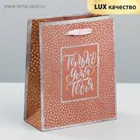 Пакет крафтовый вертикальный «Все только для тебя», 12 × 15 × 5,5 см