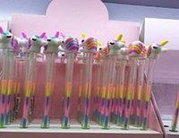 Ручка гелевая, цвет микс,Единорог,d 0,5 мм