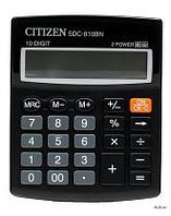 Калькулятор настольный Citizen 10-разрядный 124x102x25мм, черный