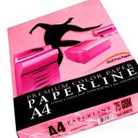 Бумага цветная PAPERLINE цвет малиновый неон А4, 75 гр/м2, 500 листов