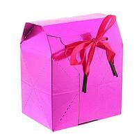 Коробка-сундучок, цвет малиновый