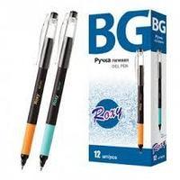 """Ручка гелевая """"BG Roxy"""", 0,5мм, синяя, цветной корпус, с грипом"""
