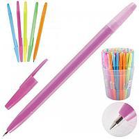 Ручка шариковая 0,7 цветной корпус ассорти Оптима синяя
