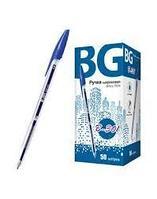 """Ручка шариковая """"BG B-301"""", 1,00мм, синяя, корпус прозрачный, 50 штук в картонной упаковке"""