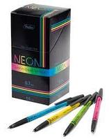 """Ручка шариковая """"Hatber Neon"""", 0,7 мм., синяя, цветной корпус ассорти, 50 штук в упаковке"""
