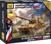 """Сборная модель военной техники Звезда """"Американская самоходная гаубица М-109 А2"""","""