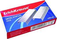 Скобы для степлера №24/6 никелированные, 1000шт. Erich Krause.