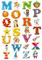 Стикеры - наклейки буквы
