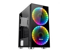 Корпус Wintek Mirror K306 TG, ATX/Micro ATX, USB 1*3.0/2*2.0, 0,55 mm, 2*20cm RGB fan