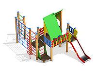 Детский игровой комплекс Крепыш для детей от 5 до 12 лет, длина 3260 мм