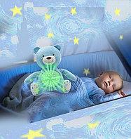 Детский ночник на батарейках со звуковыми и музыкальными эффектами 2 в 1 медвежонок Dream голубой