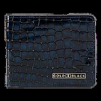 Кожаное портмоне синего цвета