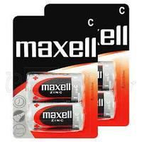 Батарейки  солевые  Maxell, R14, C Blist