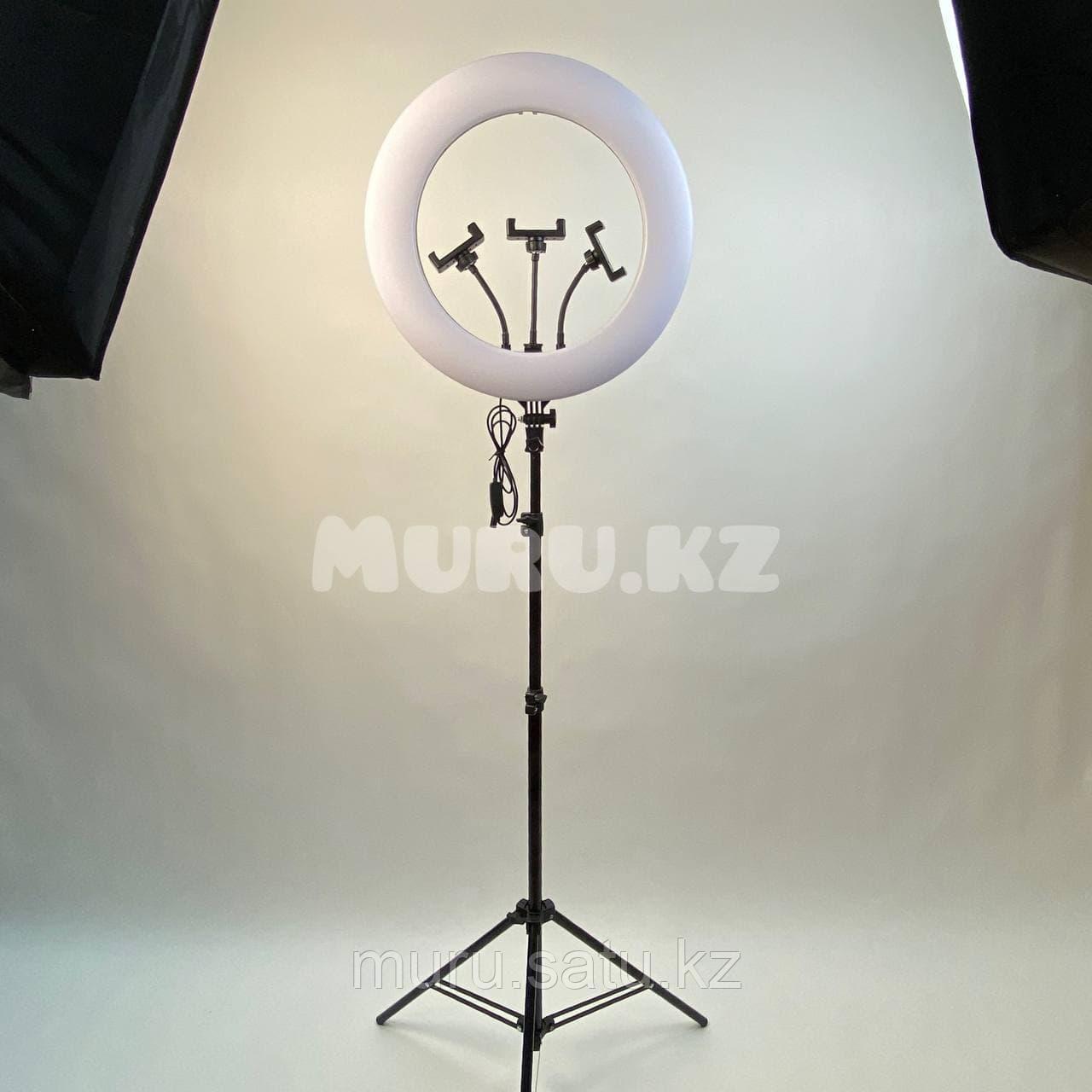 Кольцевая лампа 45 см со штативом 2м + микрофон подарок! - фото 4