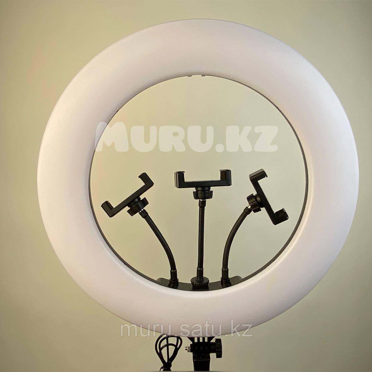 Кольцевая лампа 45 см со штативом 2м + микрофон подарок! - фото 5