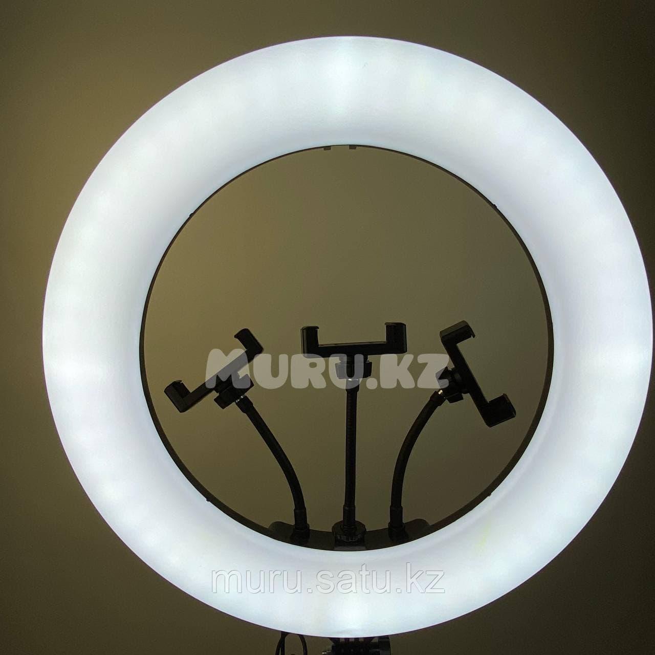 Кольцевая лампа 45 см со штативом 2м + микрофон подарок! - фото 6
