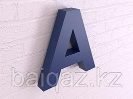 Объёмные буквы без подсветки