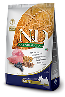 Lamb&Blueberry Mini Adult, ягненок, черника, спельта, овес, N&D, уп. 7кг.