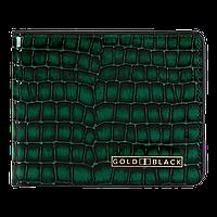 Кожаное портмоне зелёного цвета