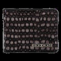 Кожаное портмоне серого цвета