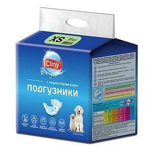 Подгузники для животных Cliny, размер XS (2-4 кг)