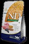N&D ягненок, черника, спельта, овес, уп.1,5кг