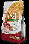 N&D для стерилизованных кошек и кастрированных котов, курица, гранат, спельта, овес, уп.1,5кг