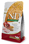 N&D для стерилизованных кошек и кастрированных котов, курица, гранат, спельта, овес, уп.5кг