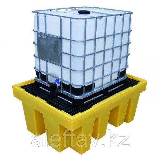 Поддон для локализации разливов для 1 х 1000 л IBC  со сверхпрочной антискользящей решеткой
