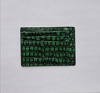 Кожаный картхолдер зелёного цвета