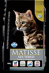 Matisse для стерилизованных кошек и кастрированных котов, курица, уп.1,5кг.
