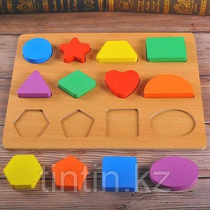 Сортер-вкладыши с геометрическими фигурками, 30х23см, фото 2
