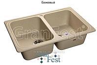 Кухонная мойка GranFest Standart GF-S780K (бежевый)