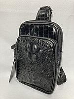 Мужская нагрудная сумка-кобура. Высота 23 см, ширина 15 см, глубина 5 см., фото 1