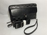 """Мужской клатч-барсетка"""" Cantlor"""".ремень через плечо и на запястье. Высота 12 см, ширина 21 см, глубина 4 см., фото 1"""
