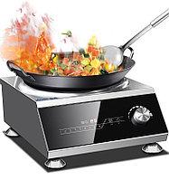 Промышленная индукционная плита 5 кВт, сенсорный+сковорода