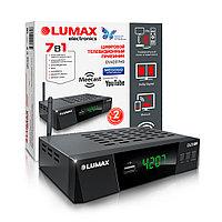 Цифровой телевизионный приемник, LUMAX, DV4207HD, DVB-T2/C, GX3235S, Металл Stealth, дисплей, Dolby