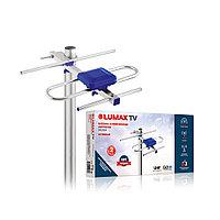 Антенна телевизионная наружная, LUMAX, DA2202A, Алюминий + ABS-пластик, Ку до 24 дБ