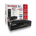 Цифровой телевизионный приемник, LUMAX, DV2117HD, DVB-T2/C,  GX6701, дисплей, пластик, Dolby Digital