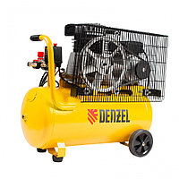 Компрессор воздушный ременный привод BCI2300/50, 2,3 кВт, 50 литров, 400 л/мин Denzel
