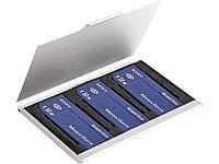 Футляр для хранения карт памяти, серебристый (Р)