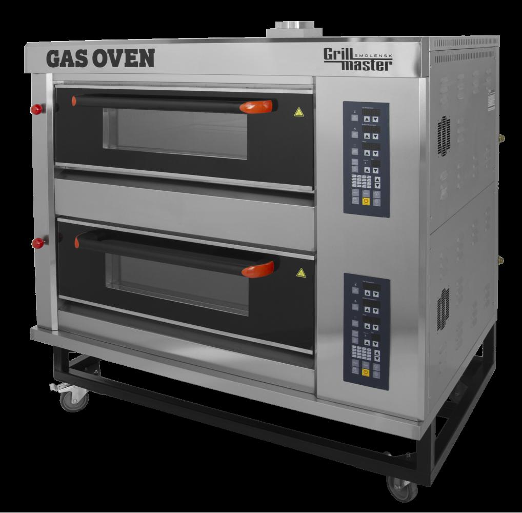 Подовый пекарский газовый шкаф с электронным управлением ШЖГ/2 (4 противня) Grill Master