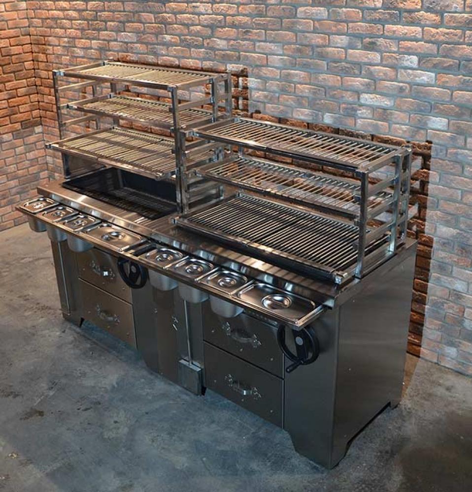 Мангал на древесном угле УММ/1 (для открытой веранды) Grill Master