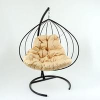 Подвесное кресло 'Кокон 3' бежевая подушка, стойка
