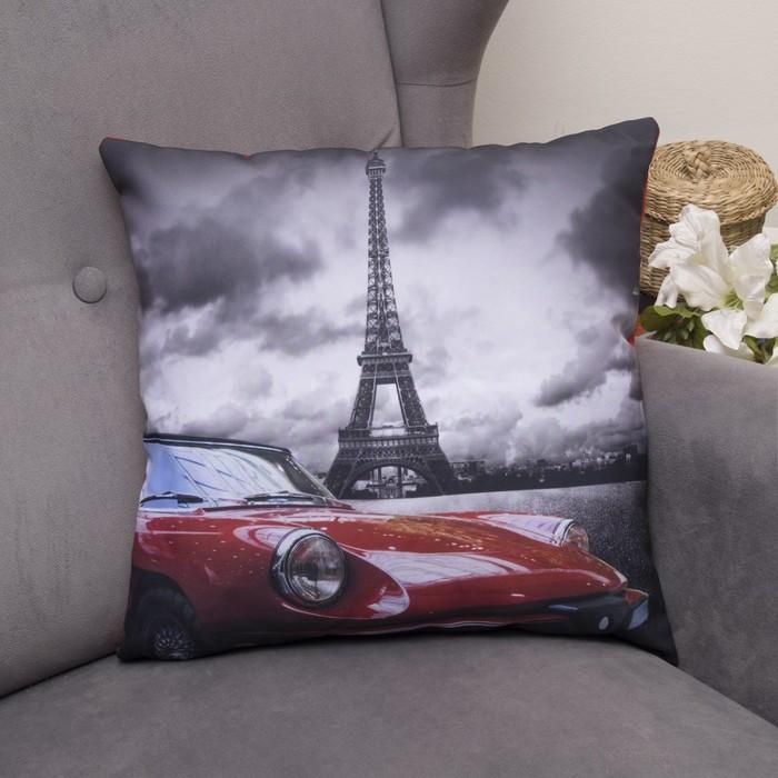 Подушка декоративная Звезда Парижа, 40х40см, габардин, синтетич. волокно, 160 гр/м
