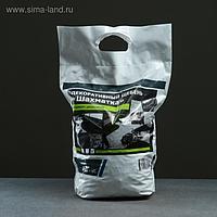 Мраморный щебень (микс) черный/белый фракция 10-20, 10 кг