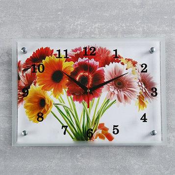 "Часы настенные, серия: Цветы, ""Цветы"", 25х35 см микс"